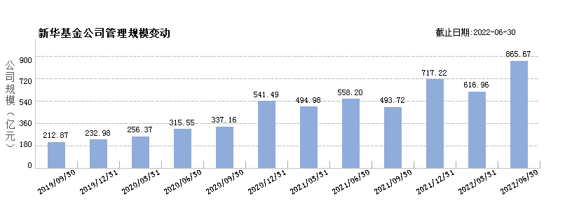 新华基金(80000249)规模变动