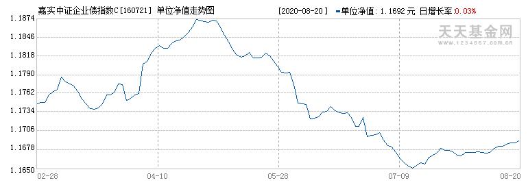 嘉实中证企业债指数C(160721)历史净值